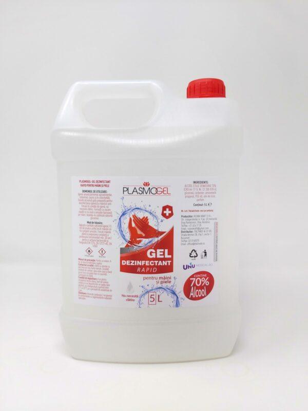 Gel dezinfectant pentru maini PLASMOGEL - 5L cu 70% alcool